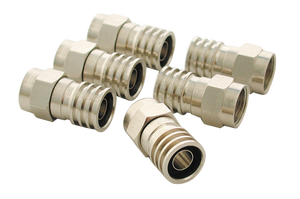CONNECTOR TV CRIMP TYPE RG6 F PK6