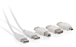 LEAD USB W/ADAPTORS 1.2MT