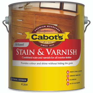 CABOTS STAIN & VARNISH STAIN OB 4L