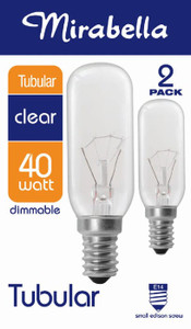 GLOBE TUBULAR CLEAR SES 40W PK2