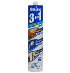 ADHESIVE SEALANT WHT 3 IN 1 480G SELLEYS