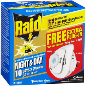 INSECTICIDE NIGHT&DAY MOSQUITO FLY RAID