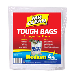 BAG TOUGH MED PK4 MR CLEAN