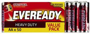 BATTERY HEAVY DUTY AA PK50 EVEREADY