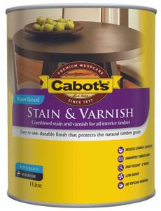 CABOTS STAIN/VRNSH WB TINT BASE SATIN 1L