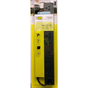 POWERBOARD 8 OUTLET BLACK