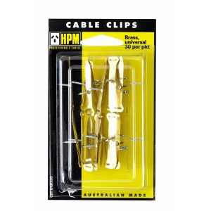 CLIP CABLE BRASS PK30