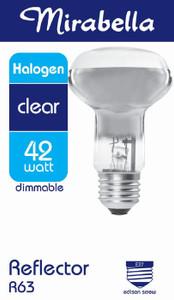 GLOBE HALOGEN REFLECTOR R63 ES CLEAR 42W