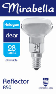 GLOBE HALOGEN REFLECTOR R50 SES CLR 28W