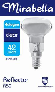 GLOBE HALOGEN REFLECTOR R50 ES CLR 42W