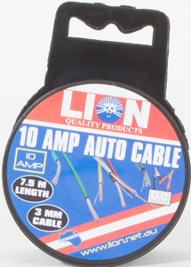 CABLE AUTO 10AMP YELLOW 3MMX7.5M LT039Z4