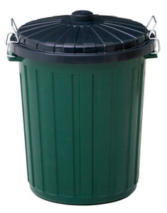 BIN GARBAGE GREEN PLASTIC 60L WILLOW