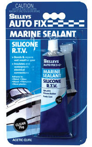 SILICONE MARINE CLEAR 75G AUTOFIX