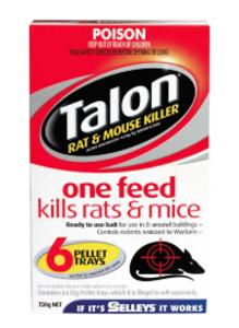 PESTICIDE PELLETS RAT & MOUSE 150G TALON
