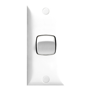 SWITCH 10A ARCHITRAVE 1 GANG WH BAGGED