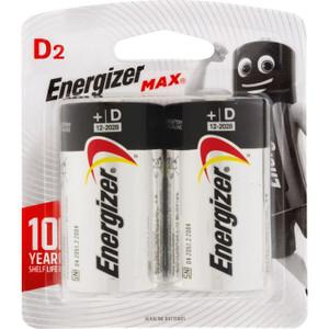 BATTERY MAX D PK2 ENERGIZER
