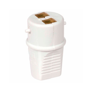 ADAPTOR SOCKET BC WHITE 3 AMP