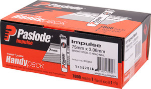 Nails Impulse 75 x 3.06mm   Handy Pack 1000bx B20551 Paslode