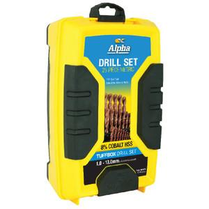 25 Piece-Metric Alpha Cobalt Tuffbox Drill Set