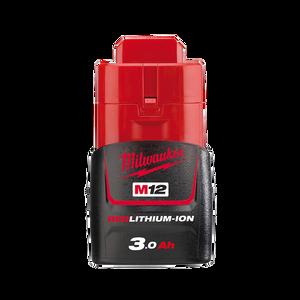 Battery 12v 3Ah Compact Carton Pk M12B3 Milwaukee