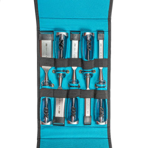 Chisel Set Wood  5pce Pouch Pro Series OX-P370905 Ox-Group