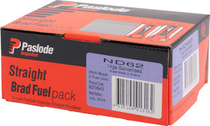 Brads/Fuel Impulse Pack ND 62mm 2000bx B20645 Paslode