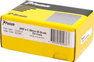 Brads C Series 38mm S/S 2000bx B20285 Paslode