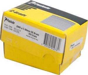 Brads C Series 50mm S/S  2000bx B20290 Paslode