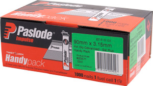 Nails Impulse 90mm x3.15mm  HDG 1000bx B20571 Paslode