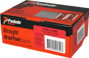 Brads/Fuel Impulse Pack ND S/S 38mm 2000bx B20660 Paslode