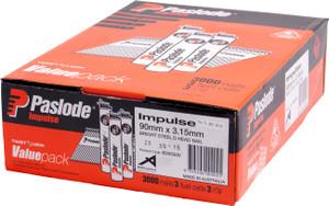 Nails Impulse 90 x 3.15mm  BRT VP B20550V Paslode