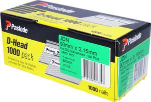 Nails JDN 90mm x 3.15mm D/H Gal 1000pcs B20455 Paslode