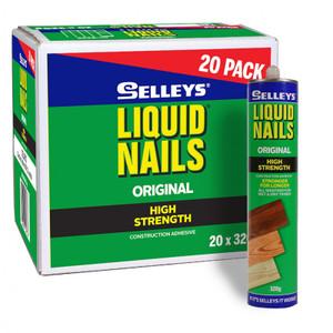 Adhesive Liquid Nails 320g  Box20  Bonus Buck 101840 Selleys