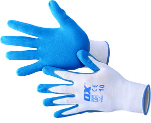 Glove Polyester Lined Nitrile 5pk OX-S484610 Ox-Group
