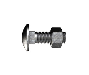 Bolt&Nut C/H Hdgal M16x300mm CHE300G