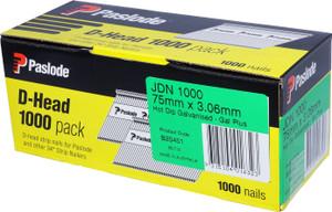 Nails JDN 75mm x 3.06mm D/H Gal 1000pcs B20451 Paslode