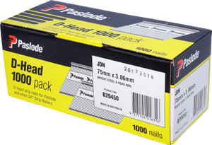 Nails JDN 75mm x 2.87mm D/H 1000pcs B20450 Paslode