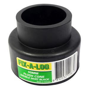CONE PAN FLUSH BLACK 50MM