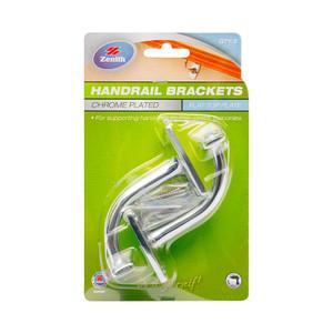 BRACKET HANDRAIL 80MM CP PK2