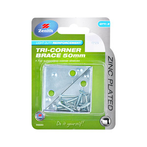 BRACE TRI-CORNER 50MM PK 2