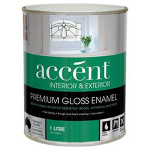 ACCENT WATER BASED ENAMEL GLOSS WHITE