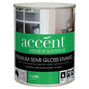 ACCENT WATER BASED ENAMEL S/GLOSS WHT