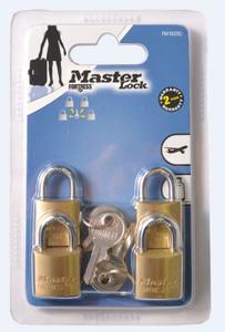 PADLOCK MASTER BRASS ECON 20MM PK4