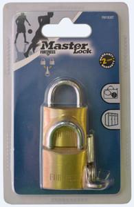 Master Lock Brass Economy Padlock - Pack of 2