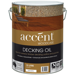ACCENT DECKING OIL NATURAL 10L