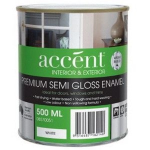 500ML ACCENT WATER BSD ENML WHT