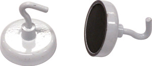 MAGNETS WITH HOOK ROUND 32MM PK2