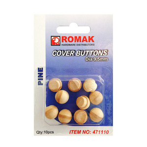 BUTTON COVER 9.5 MM PINE