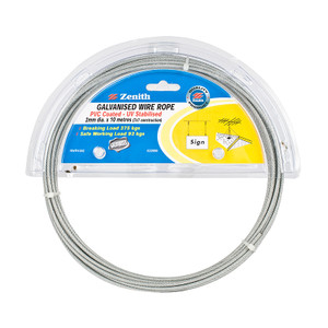 ROPE WIRE GALV PVC
