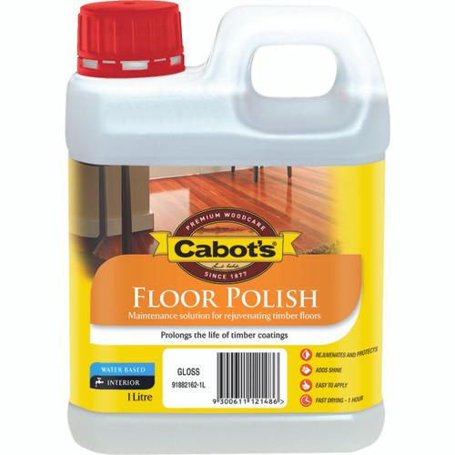 CABOTS CFP FLOOR POLISH H/GLOSS 1L